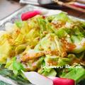 居酒屋風♪『湯通しキャベツの味噌ガーリックドレッシング』、運動会。 by Yoshikoさん