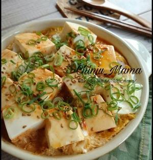 夏休みに【レンチンボリュームおかず!】豚と豆腐の甘辛卵とじ