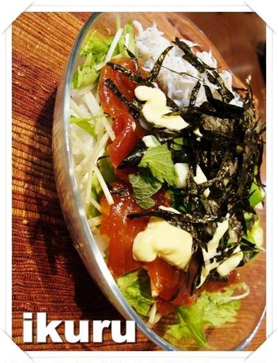 【久々のレシピ作成!】紅白海鮮丼 by いくる