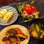 根菜の甘酢炒め/鯛入り卵焼