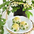 和菓子風*新じゃがとグリーンピースのバター醤油おにぎり by BiBiすみれさん