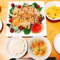 楽する夕食1週間献立、1日目。パクチー嫌いが作る簡単エスニック風蒸し鶏