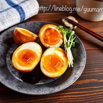 半熟 味玉の作り方〜刺身醤油で漬け込み10分〜