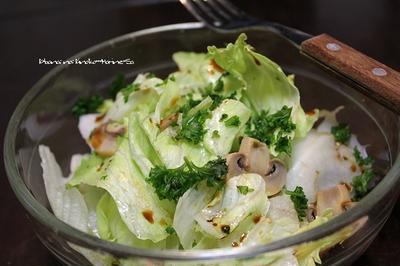マッシュルームピクルスのサラダ