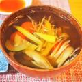 夏野菜のお吸い物 by こよさん
