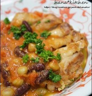 【鶏もも×トマトレシピ】鶏もも肉のソテー。トマビーンズソース♪