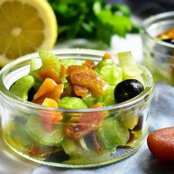 【ワインにピッタリ♪】ボッタルガとセロリのサラダ