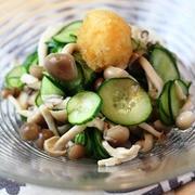 胡瓜とシメジのおろしポン酢和え by マイティさん