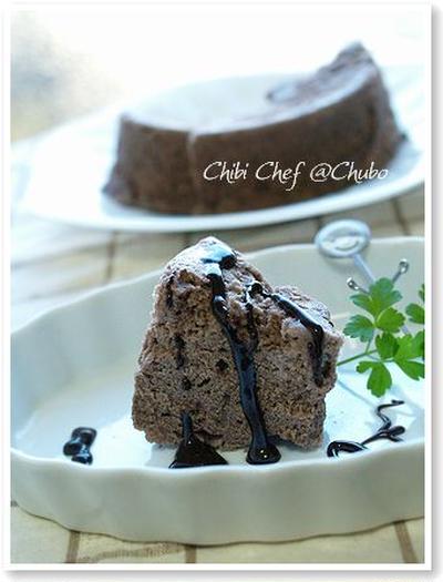レンジdeチョコシフォン風ケーキ