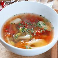 【コンソメほっこり】ちくわと枝豆のトマトスープ レシピ・作り方