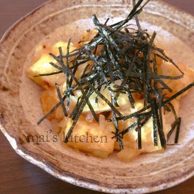 水切り豆腐de生姜麺つゆコロコロステーキ♪簡単節約ヘルシー!