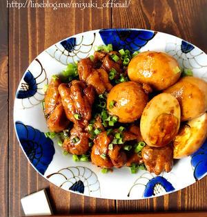 ♡作り置きにも♡鶏と卵のお酢テリ煮2♡【#簡単#節約#鶏もも肉#照り煮#アレンジ】