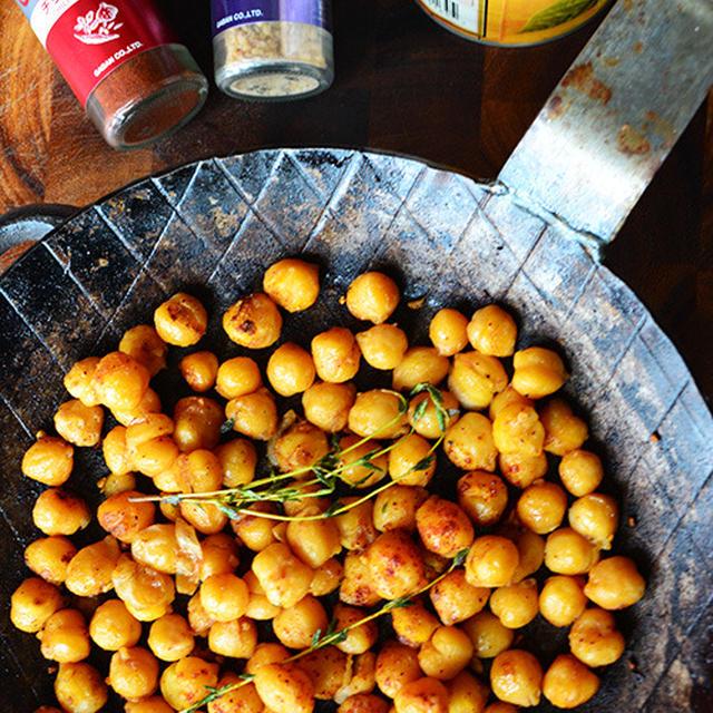 3分簡単 家バル(おやつ)レシピ ガルバンゾー(ひよこ豆)の醤油ガーリックチリパウダー炒め - スパイス大使 -