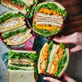 1日目、ハーブとチーズのチキンフライサンド|作り置き+余り野菜|1週間分のお弁当サンドイッチアイディア