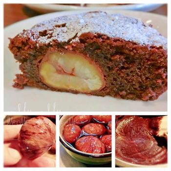 栗の渋皮煮 と マロン入りショコラケーキ