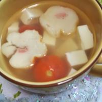 お料理レシピその④★(クリスマスなのに⁉️)和風☆トマトとお麩とお豆腐のお吸い物★
