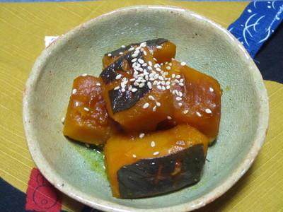 南瓜の蜂蜜生姜湯煮