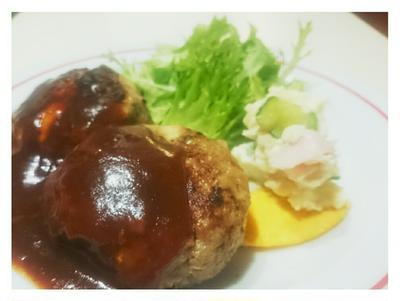 さぁ胃袋をつかもうヽ(・∀・)ノ【Recipe:ハンバーグとポテトサラダ】
