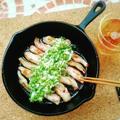 スキレットで🎵豚トロのネギ塩ダレ😄 by mamas_dishesさん