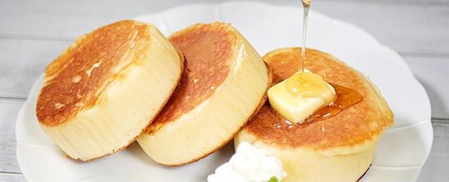 気分が上がる!「ふわふわパンケーキ」の簡単レシピ