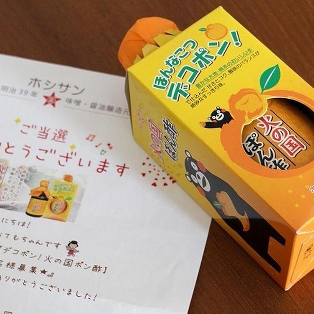 【モニプラ】極上のまろやかさ!九州のデコポン果汁たっぷり!火の国ポン酢 モニター20名募集