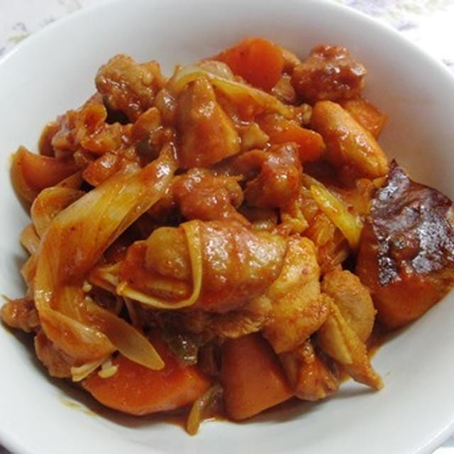 区別がつかないよ鶏料理(今日はタットリタン)&甘酢大根巻き