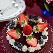 バレンタインのケーキなど