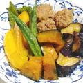 冷めても美味しい『量増しつみれ団子』と『素揚げ夏野菜』の旨煮
