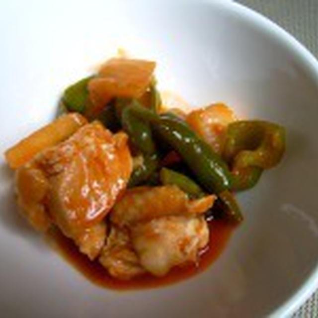 きのうのおつまみ 鶏のケチャップ煮