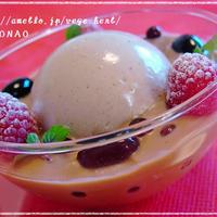 煮豆・黒豆リメイク(^^)パンナコッタフロート☆コーヒー風味☆乳製品不使用