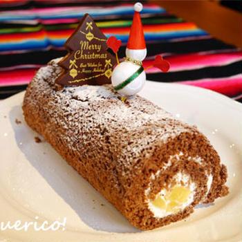 クリスマスに。林檎のロールケーキ