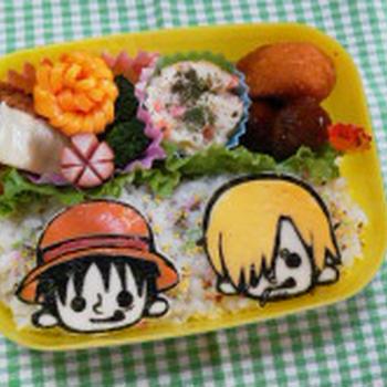 ★ONE PIECE★ パンソンワークス・サンジ&ルフィのお弁当