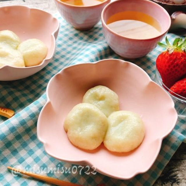 お豆腐入りでふんわり!空豆の白玉団子(動画レシピ)
