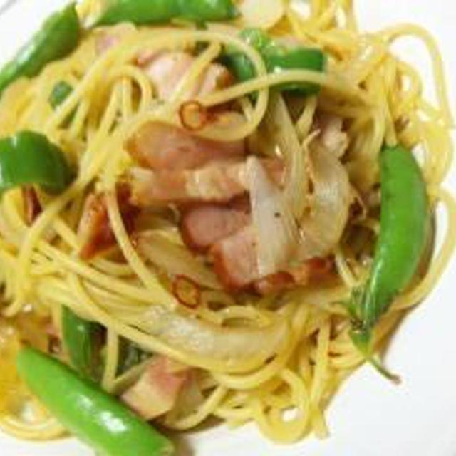 出汁効く~ベーコン野菜の和ぺペロンチーノ (キッチン ラボ)