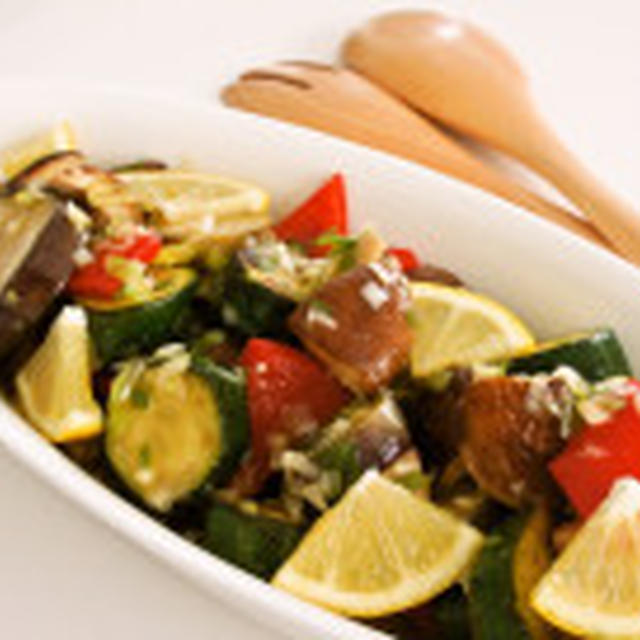 野菜ときのこのネギ塩さっぱりマリネ