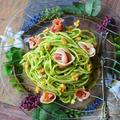 お花畑パスタ 簡単!美味しく免疫アップ! モロヘイヤと生ハムとくるみのパスタ  - 豊菜JIKAN -
