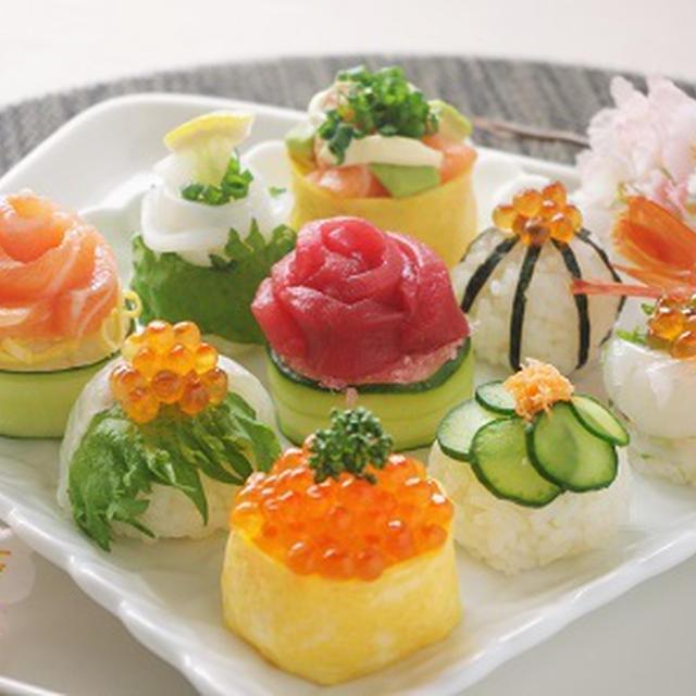 ひな祭りの華やか手まり寿司