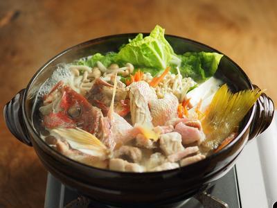 ヨコスジフエダイ(赤イサキ)のちり鍋、本格ちり鍋の作り方