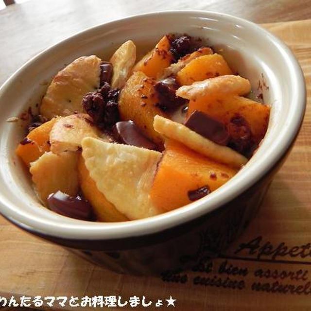 簡単★柿とチョコのスイーツココットカマン