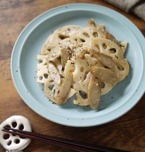 根菜レシピ|食物繊維たっぷりでお腹もスッキリ【レンコンとゴボウの味噌バターきんぴら】