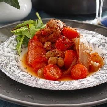 ひよこ豆のトマト煮(レシピ)