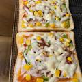 三太郎用はピザトーストです。