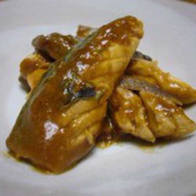 鯖のカレー味噌煮 de 男子飯