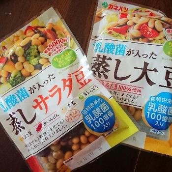 乳酸菌が入った蒸し大豆/サラダ豆 2種