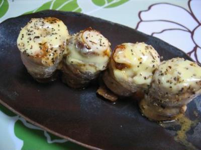 ネギ味噌の豚巻き巻きオンチーズ!