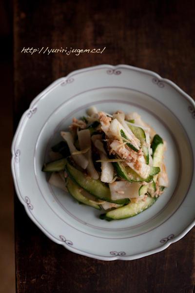 大根と胡瓜の中華風サラダ