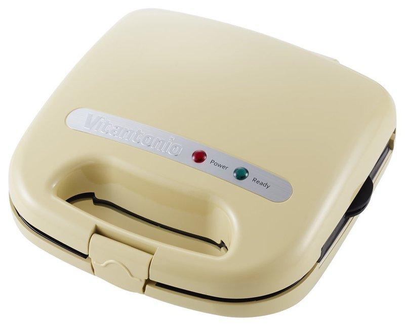 商品名:ビタントニオ ワッフル&ホットサンドベーカー スペシャルセット クリーム VWH-11-C<...
