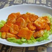 海老と豆腐のチリソース炒め