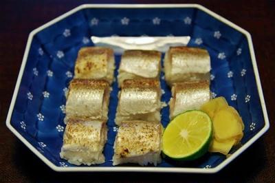 カマスの炙り棒寿司