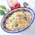 無言になる美味しさは、ほぼ茹で時間で完成。『キノコと根菜のクリームスパゲッティ』